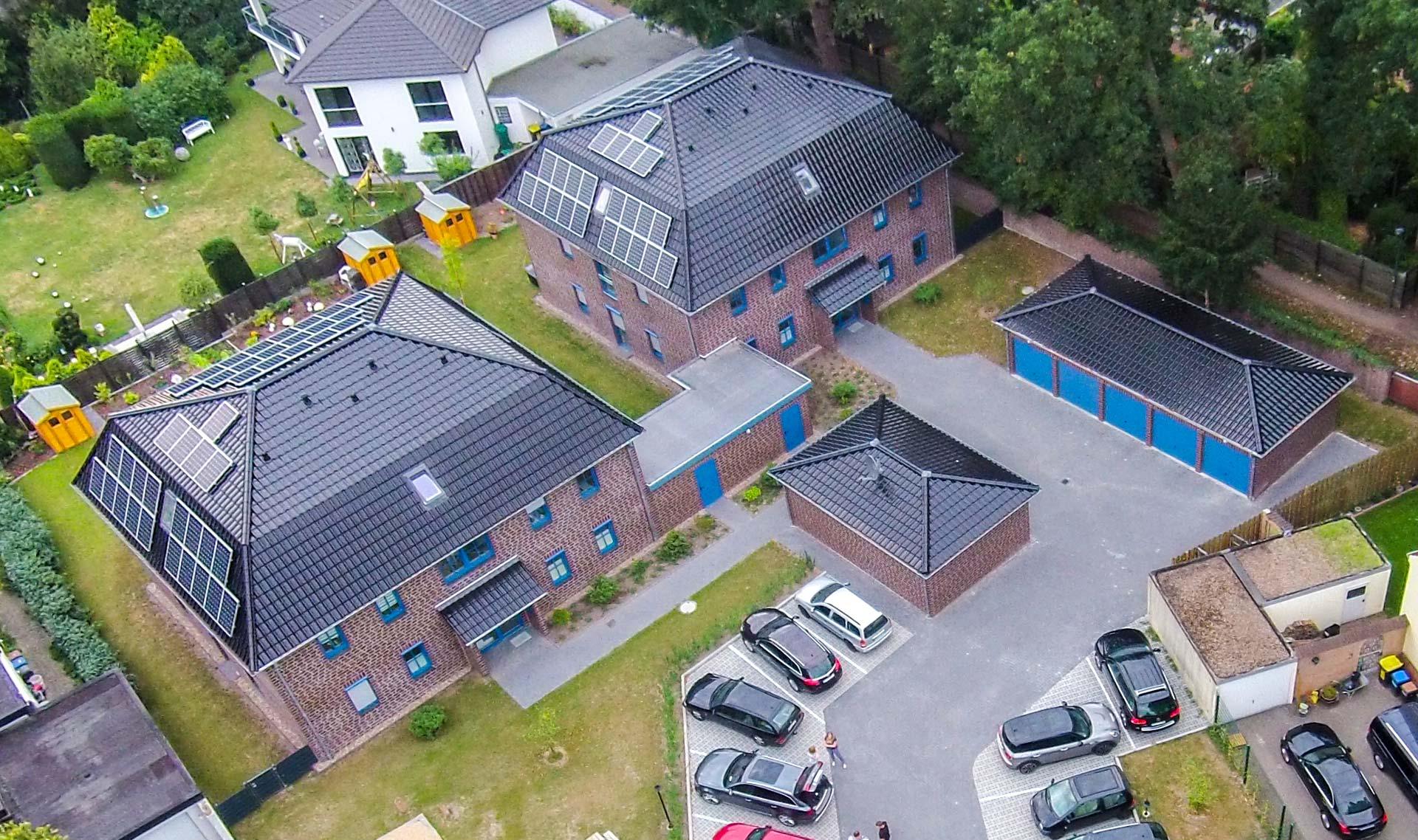Luftbild Mehrfamilienhäuser